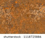natural rusty texture ... | Shutterstock .eps vector #1118725886
