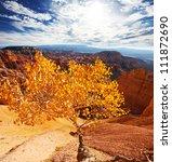 Bryce canyon in fall season - stock photo