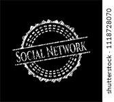 social network written on a... | Shutterstock .eps vector #1118728070
