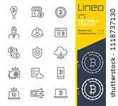 lineo editable stroke   bitcoin ...   Shutterstock .eps vector #1118737130
