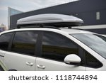 roof trunk of family car | Shutterstock . vector #1118744894