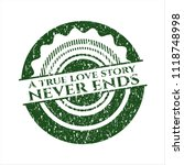 green a true love story never... | Shutterstock .eps vector #1118748998