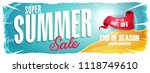 summer holiday sale wide banner ... | Shutterstock .eps vector #1118749610