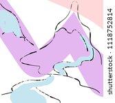 abstract mountain texture... | Shutterstock .eps vector #1118752814