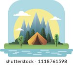 vector tent on the nature | Shutterstock .eps vector #1118761598