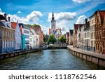 brugge medieval historic city.... | Shutterstock . vector #1118762546