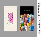 business cards design  funny... | Shutterstock .eps vector #1118767226