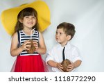 tropical summer with family.... | Shutterstock . vector #1118772290