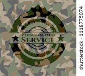 personalized service on camo... | Shutterstock .eps vector #1118775074