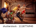 passion dance team   group of... | Shutterstock . vector #1118776940
