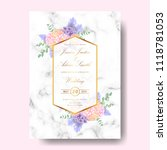 wedding floral invitation with  ... | Shutterstock .eps vector #1118781053