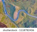 bendy road in lake district  uk ... | Shutterstock . vector #1118782436