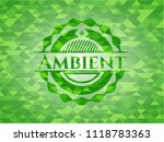 ambient green emblem with... | Shutterstock .eps vector #1118783363