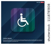 disabled person icon   free... | Shutterstock .eps vector #1118785838