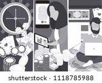 vector people playing in online ... | Shutterstock .eps vector #1118785988