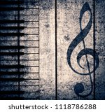 wood musical background | Shutterstock . vector #1118786288