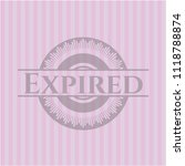 expired realistic pink emblem | Shutterstock .eps vector #1118788874