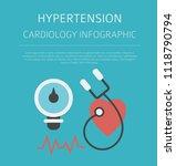 hypertension   medical desease... | Shutterstock .eps vector #1118790794