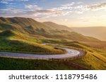 sunset over winnats pass in... | Shutterstock . vector #1118795486