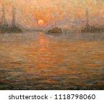 landscape  oil painting  hand... | Shutterstock . vector #1118798060