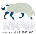 vector bible exodus scene... | Shutterstock .eps vector #1118801483