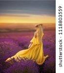 girl in a lavender field | Shutterstock . vector #1118803559