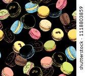 macaroons seamless pattern.... | Shutterstock .eps vector #1118803859