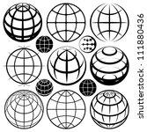 globe signs. vector globe sign... | Shutterstock .eps vector #111880436