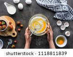 cropped shot of woman making... | Shutterstock . vector #1118811839