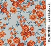 floral seamless pattern. flower ... | Shutterstock .eps vector #1118816726
