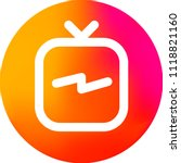 instagram tv logo. ig tv. igtv... | Shutterstock .eps vector #1118821160