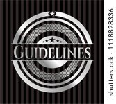 guidelines silver badge or... | Shutterstock .eps vector #1118828336