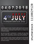 abstract happy 4th of july ... | Shutterstock .eps vector #1118829128