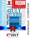 abstract happy 4th of july ... | Shutterstock .eps vector #1118829140