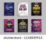 musical party flyer or template ... | Shutterstock .eps vector #1118839913