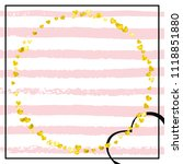 wedding glitter confetti with... | Shutterstock .eps vector #1118851880