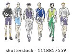 fashion man. set of fashionable ... | Shutterstock . vector #1118857559