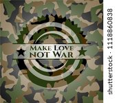 make love not war camouflage... | Shutterstock .eps vector #1118860838