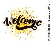 welcome text lettering... | Shutterstock .eps vector #1118864840