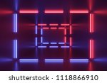neon lights abstract background.... | Shutterstock . vector #1118866910