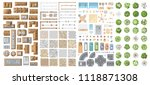 set of landscape elements.... | Shutterstock .eps vector #1118871308