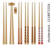 vector set. food chopsticks.... | Shutterstock .eps vector #1118871326