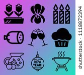 vector icon set  about birthday ... | Shutterstock .eps vector #1118872394
