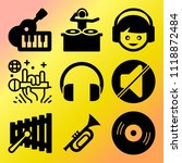 vector icon set  about music... | Shutterstock .eps vector #1118872484