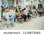 Blur Image Of Patients In The...