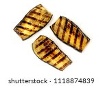 aubergine fried on a grill on a ... | Shutterstock . vector #1118874839