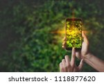 mobile phone concepts ...   Shutterstock . vector #1118877620
