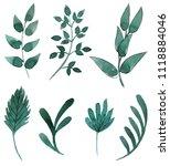 watercolor flowers set | Shutterstock . vector #1118884046