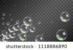 soap bubbles with rainbow... | Shutterstock .eps vector #1118886890