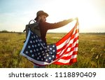 4th of july. american flag... | Shutterstock . vector #1118890409
